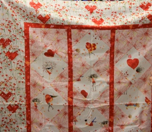 "Patricia made this cute little quilt - we gave her several ideas - but what we really wanted to know is ""Where did you get that really cute fabric?""  We want some!"