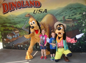 Mr. B loved meeting Goofy and Pluto!