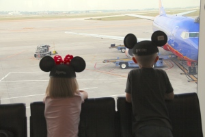"When will our plane get here - ""We're going to Disney World!"""