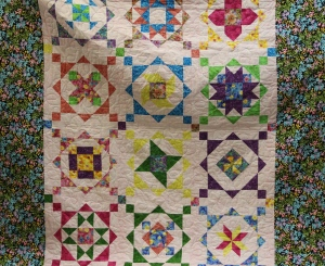 Donna shows the FIRST quilt she quilted on her new frame!