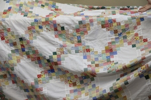 Cindy G. was on task to give some wonderful ideas for adding modern quilting to this delightful quilt.