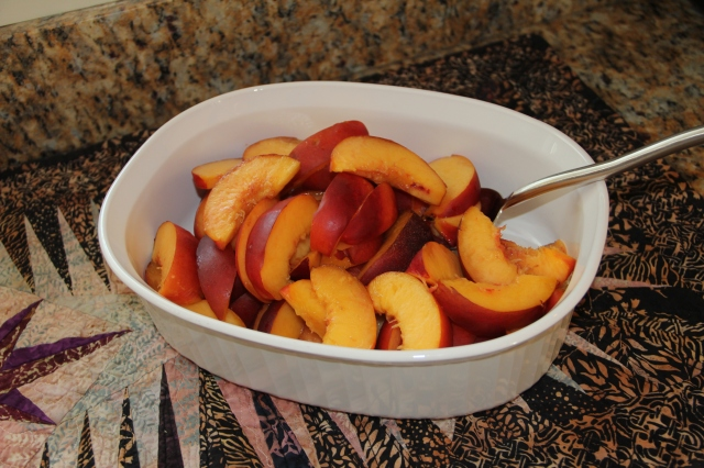 These nectarines were soooo juicy!