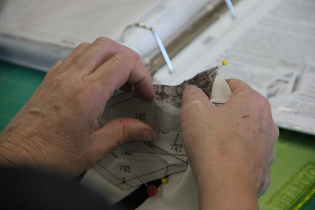 Judy demo's removing the paper!