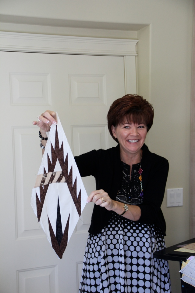 Peggy was the first one to get a wedge together - she was so excited!  (PS - this was the one Judy used as her demo)