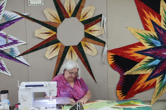 Carol from Batiks Etcetera is working very hard - I just love her autumn colors