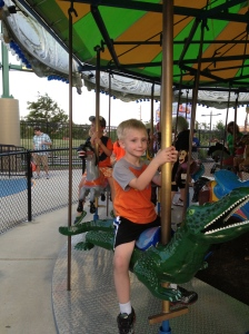 Had to ride the alligator!