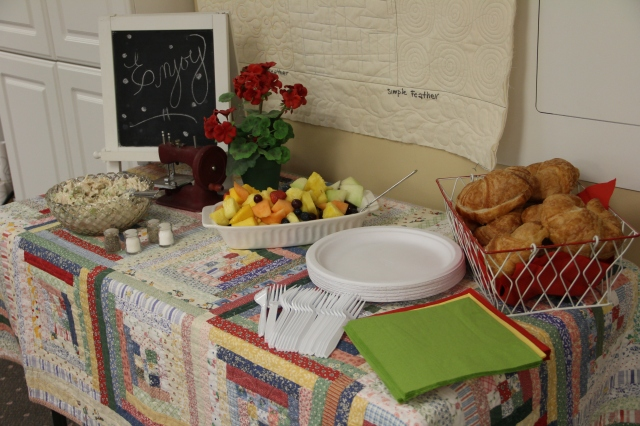 Diane really made lunch as pretty as it was yummy!