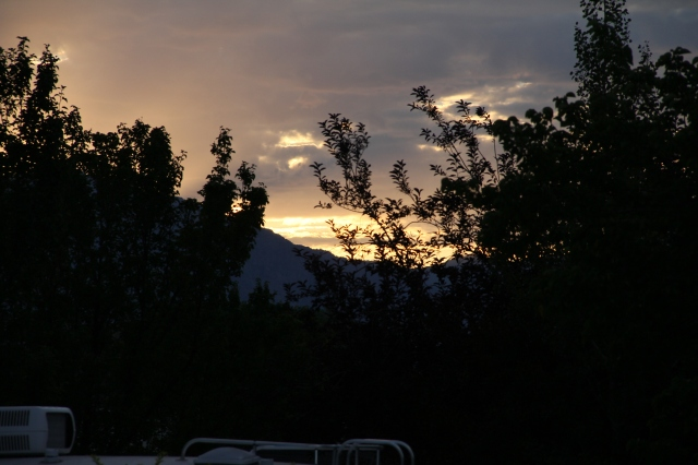 Sunrise over the mountains before I left to teach one morning
