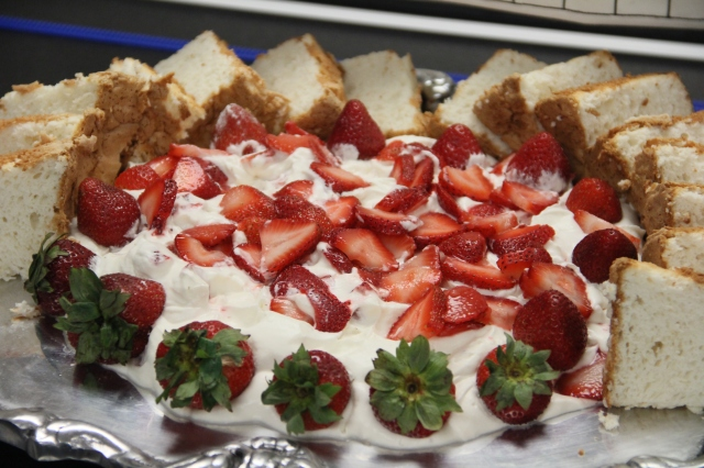 And this strawberry shortcake had HOMEMADE whip cream!