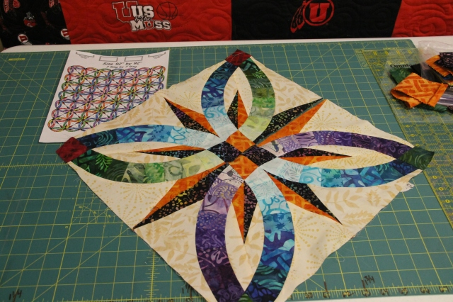 Bobbie's quilt is going to be stunning