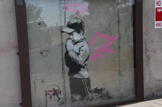 Street Art on a parking terrace