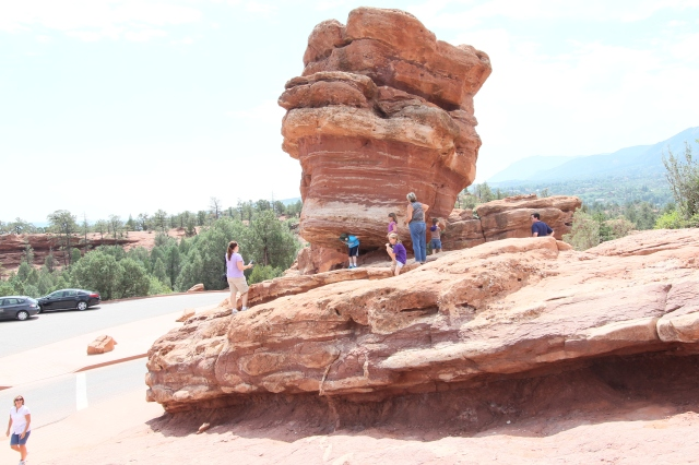 Balancing Rock at Garden of the Gods - google this and learn the history of this scenic spot