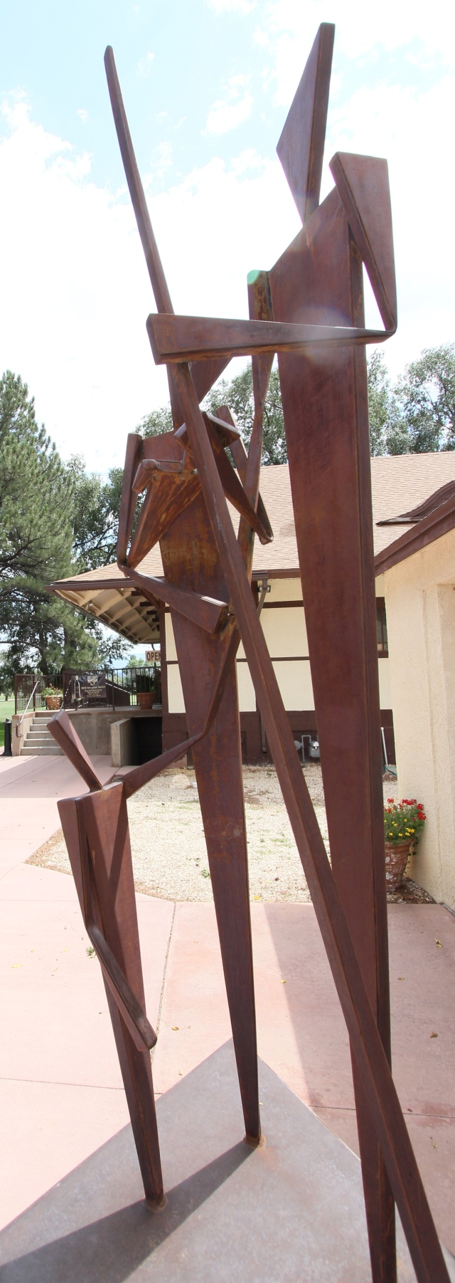 Statues at the winery