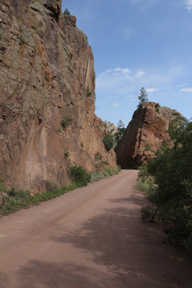 We just drove through that - it was very narrow