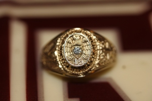 The Ring on the A&M cake - the bakery actually had a typo on the cake - oops!