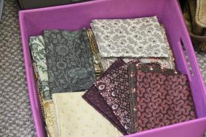 Cheryl has already chosen the fabrics for her split log cabin!