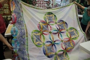 Janeane's time consumer has been this rendition of Flowers for My Wedding - a 50th wedding anniversary gift for her parents!