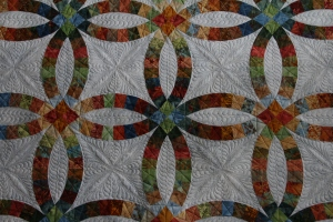 I fell in love with this one.  Alas, I have emailed Julie that her quilt is ready and at some point it will go home!