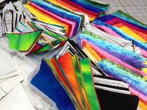 Chop it up!   What a pretty rainbow!