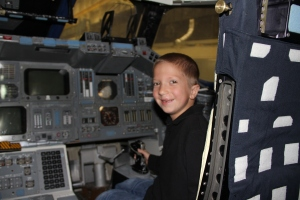 One of Jenni's grandchildren - he was just accepted to Georgia's Target program for gifted children.  This photo he is in a mock shuttle at NASA.  Maybe he will be an astronaut!