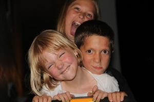 These are a few of your goofy grandkids celebrating at Camp DeeDee in 2012