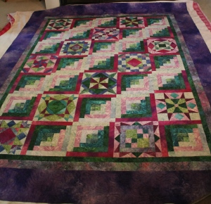 Sandy's quilt - 87x108, 35 total blocks
