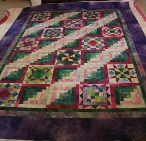 Sandy's quilt - 87x108, 35 total blocks