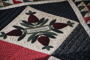 I love love love how this block looks quilted - Thanks QP!