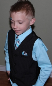 Styling little man after church!