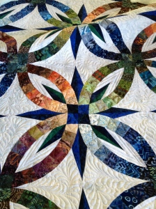 The overall effect of quilting on one block