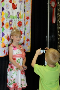 Even little brother was proud of sissy - this year he will have 2 quilts in the show!