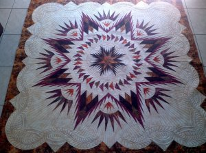 Cristyn did not want to piece the circling geese and she is a phenomenal quilter so here is what she did!