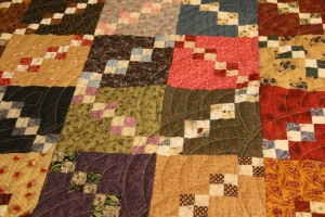 I love the baptist fan quilting for these old fashioned traditional quilts!