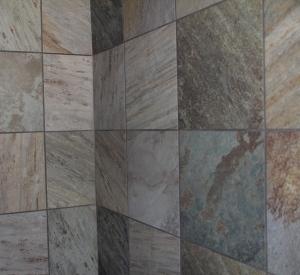 The shower tile