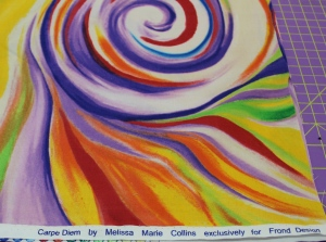 A shopping trip to Valli and Kim in Dripping Springs yielded this great fabric for Jackie's multi-color Captain's Wheel