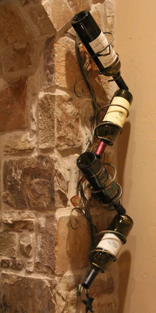 And here is a great way to display the empty bottles that you really enjoyed!