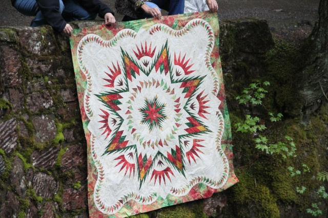 To have my quilt photographed in Glacier National Forest