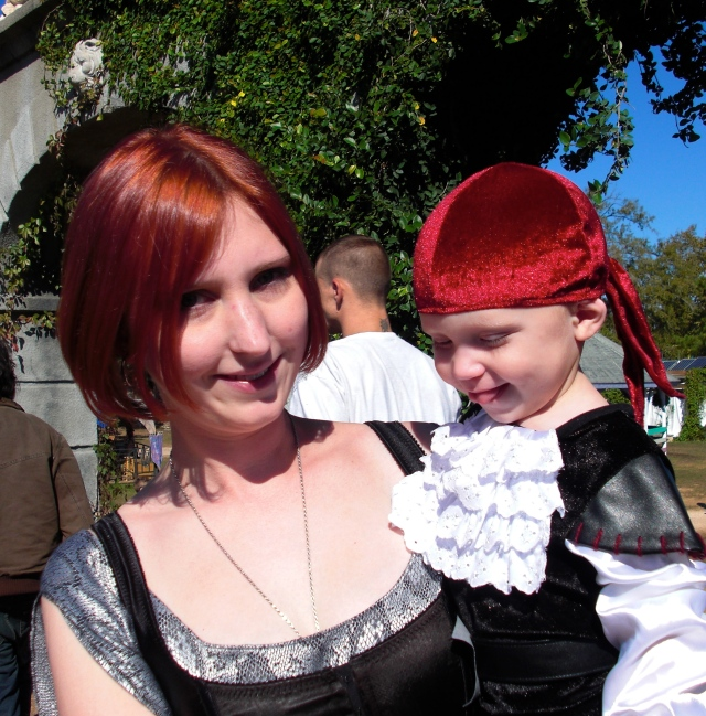 Mama and her little pirate....