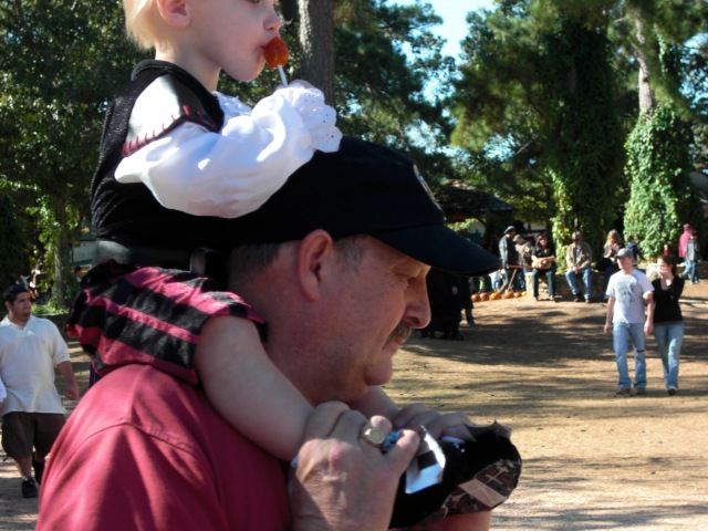 Glad Grandpa is wearing a hat - it was a sticky hat too!
