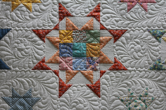 "I have 25 of these pretty blocks to make a quilt - ""someday"""