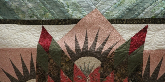Kathy's Summer Solstice - quilted by Cindy Gravely.