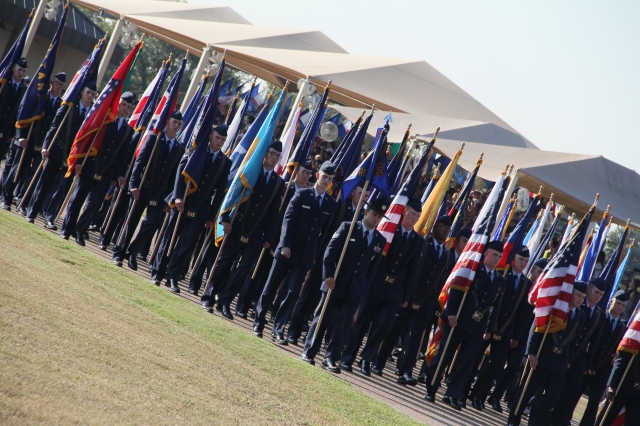The ceremonial march.....