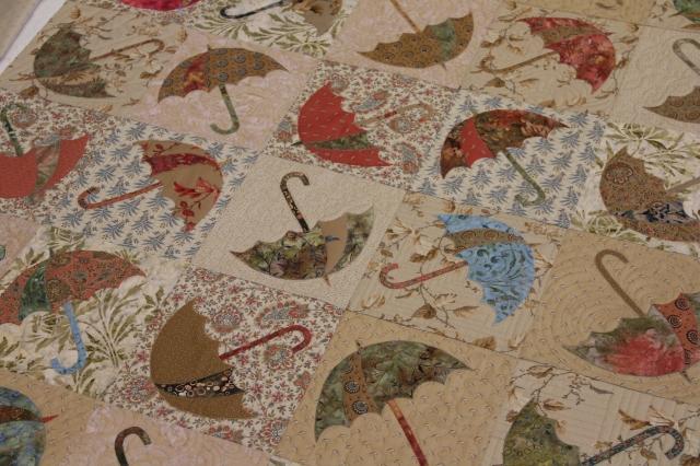 Umbrella Blocks using prints and batiks!