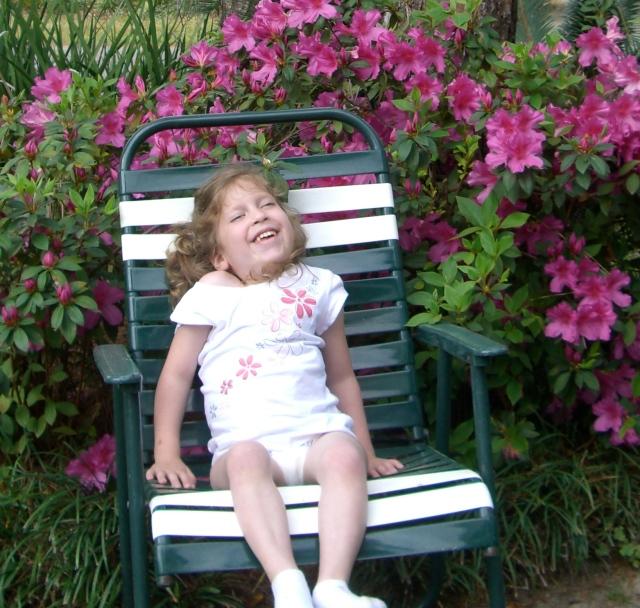 Photos with the azaleas!  I don't have azaleas at my new house :(