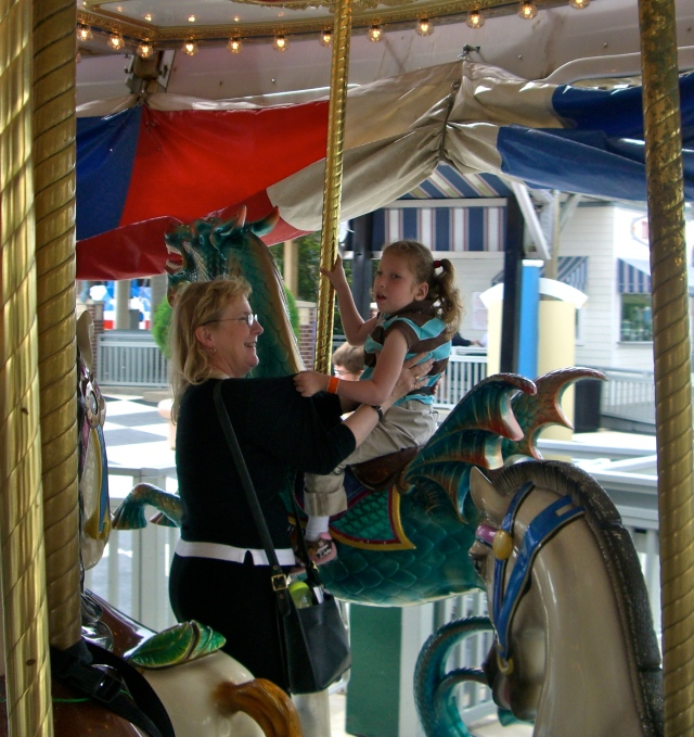 You had so much fun with Dahlia at the park we met them at Kemah for some more fun - your first Merry Go Round Ride - you were a little scared and then you loved it (like 12 times loved it!)