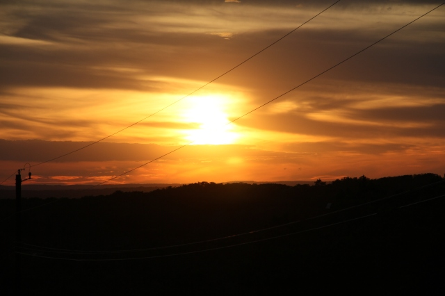 Thursday evenings sunset - there were several of us on the porch enjoying this one!