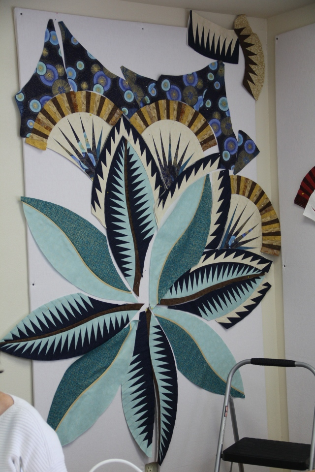 Aw Brenda - this fabulous!  Her first Judy quilt (and I think paper-piecing) was Captain's Wheel at Wimberley Quilt Ranch last year.  I think she is hooked!