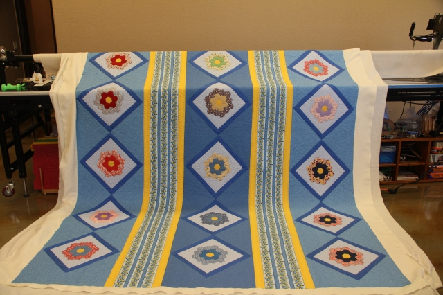 The overall quilt from the front.