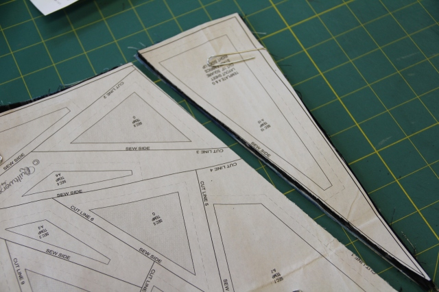 The template layout sheet is numbered for the order to cut each line.  Here I am cutting line 1, then line 2 etc.