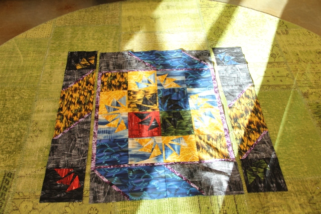 Sew the sides on to your quilt center